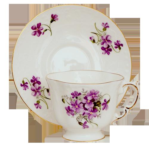 Berta Hedstrom Quot Violet Quot Elizabeth Grey Tea Cups Sets Set