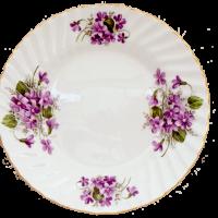 violets dessert plate