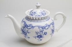 Blue Lace Vine Teapot