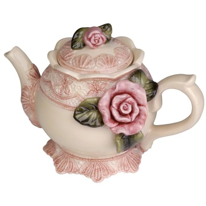 rose lilac teapot