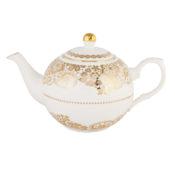 Gold Lace Porcelain Teapot