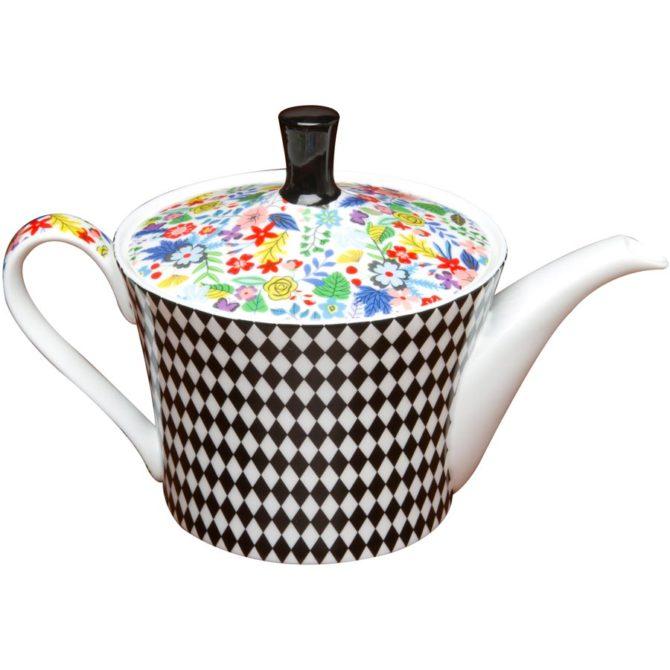 Modern Floral Tea Pot