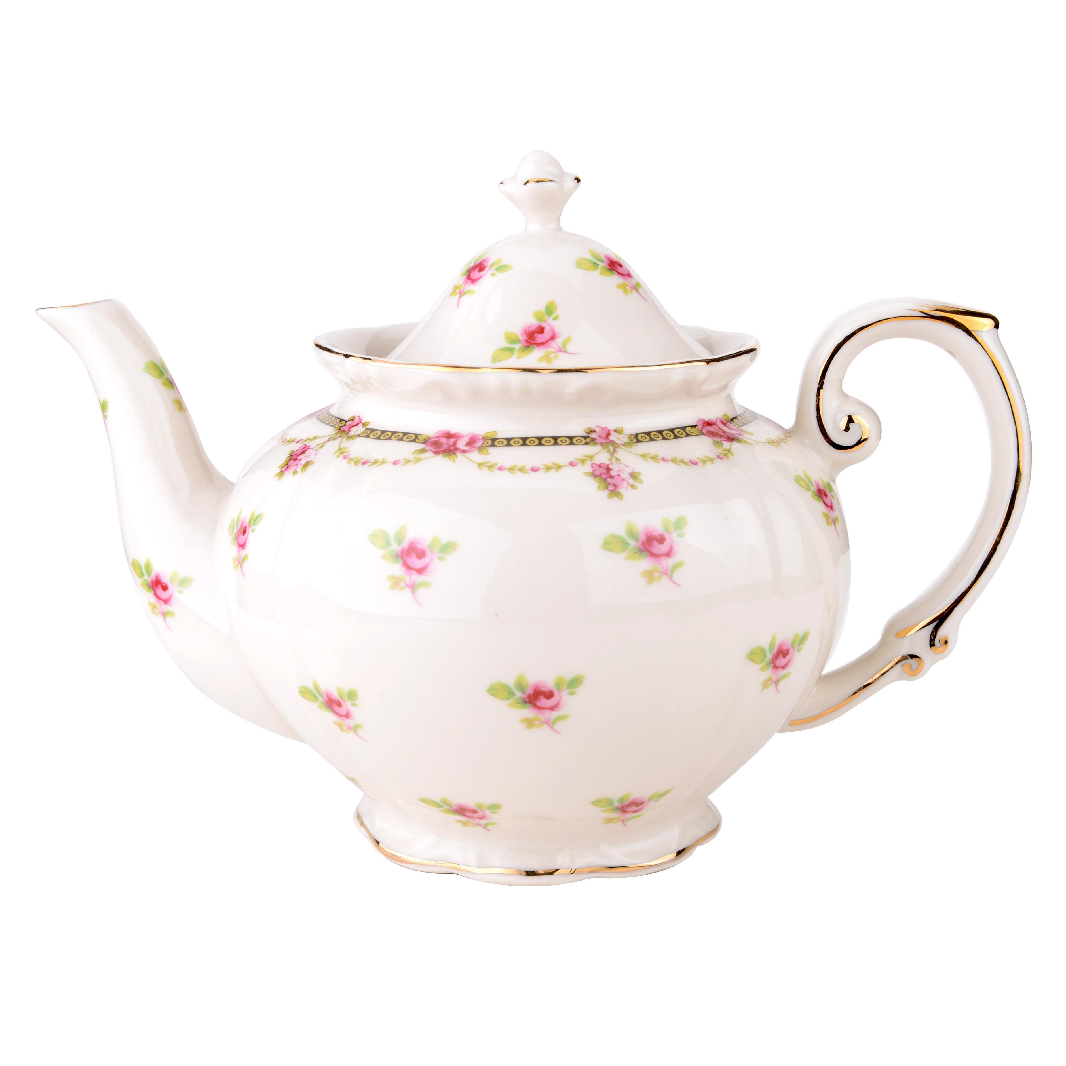 Petite Fleur Porcelain Teapot